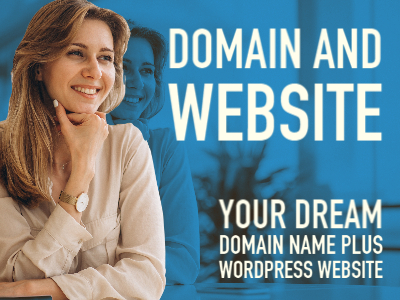 Domain name plus WordPress